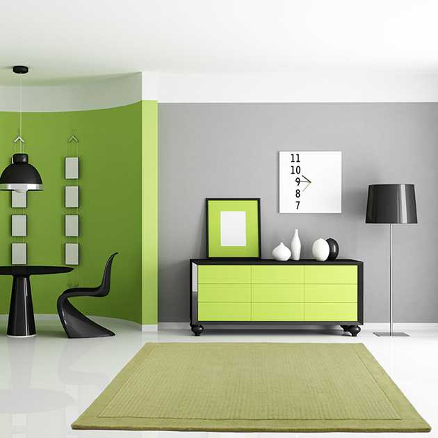 Sevilla Rugs in Lime