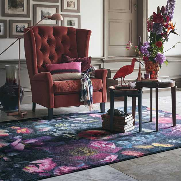 Shadow Floral Rugs 58005 by Ted Baker