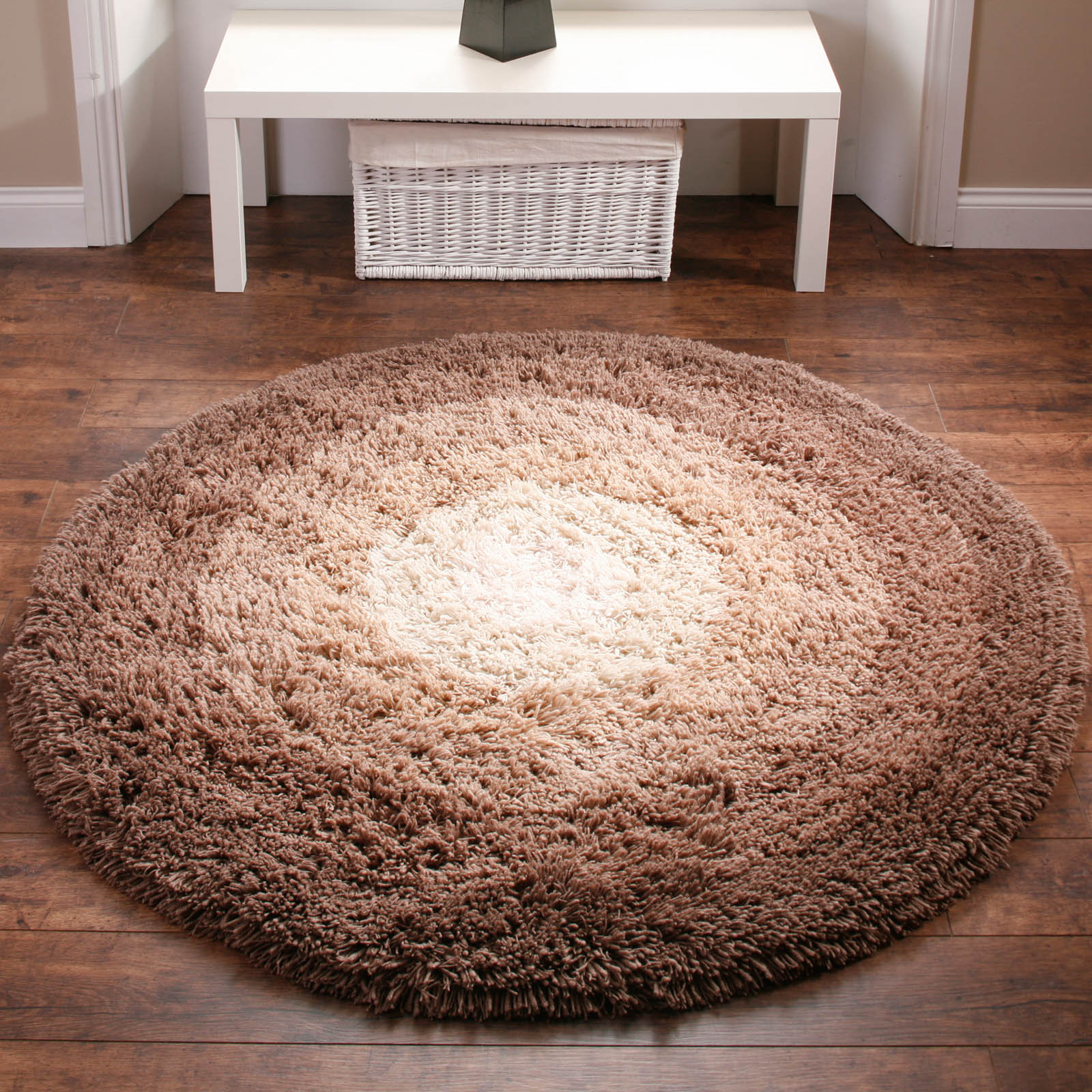 SHADOW RUGS IN BROWN - WASHABLE SHAGGY