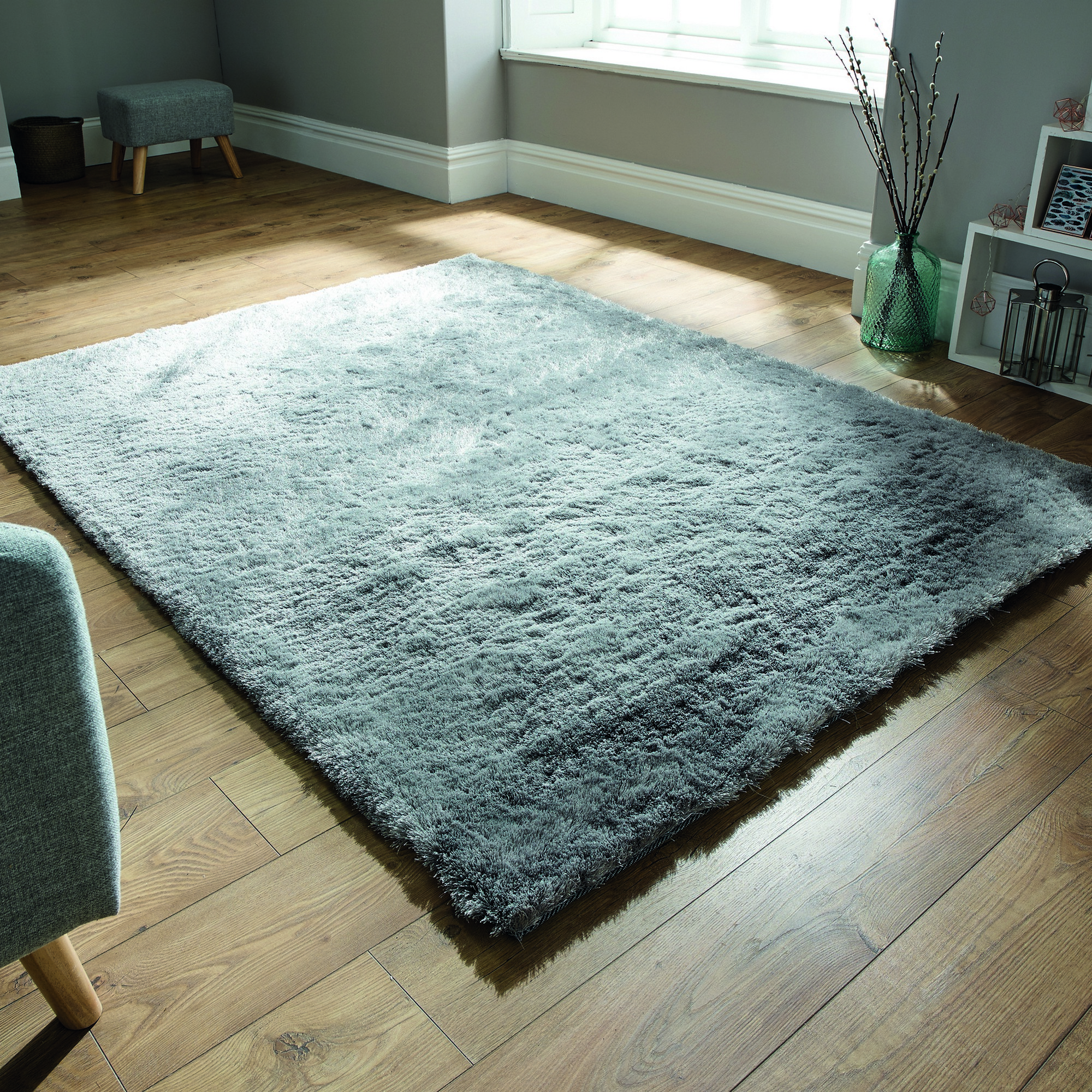 Splendour Shadow Rugs in Silver