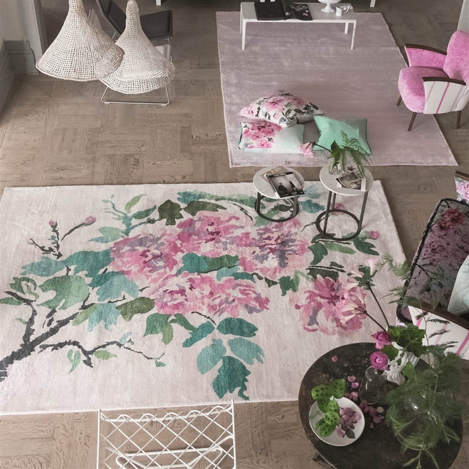Shanghai Garden Peony Rug by Designers Guild