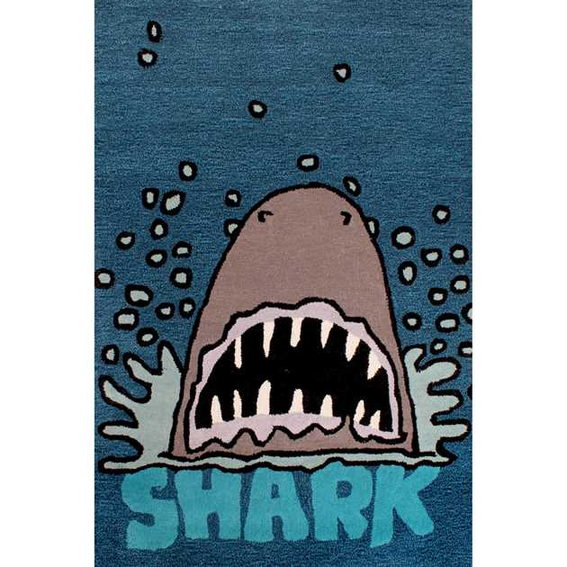 Kids Shark Rugs In Blue Free Uk Delivery The Rug Seller