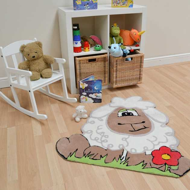 Kiddy Sheep Rugs in Brown White