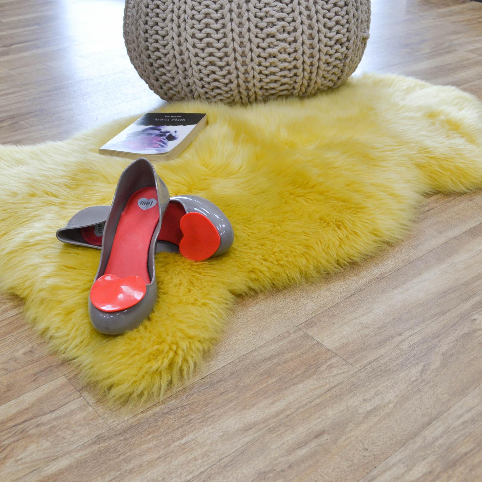 sheepskin rugs new zealand quality mustard free uk. Black Bedroom Furniture Sets. Home Design Ideas