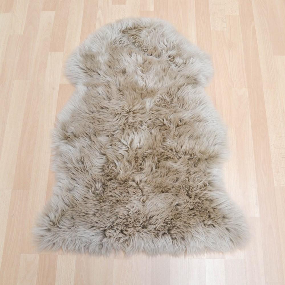 sheepskin rugs in taupe buy online from the rug seller uk. Black Bedroom Furniture Sets. Home Design Ideas