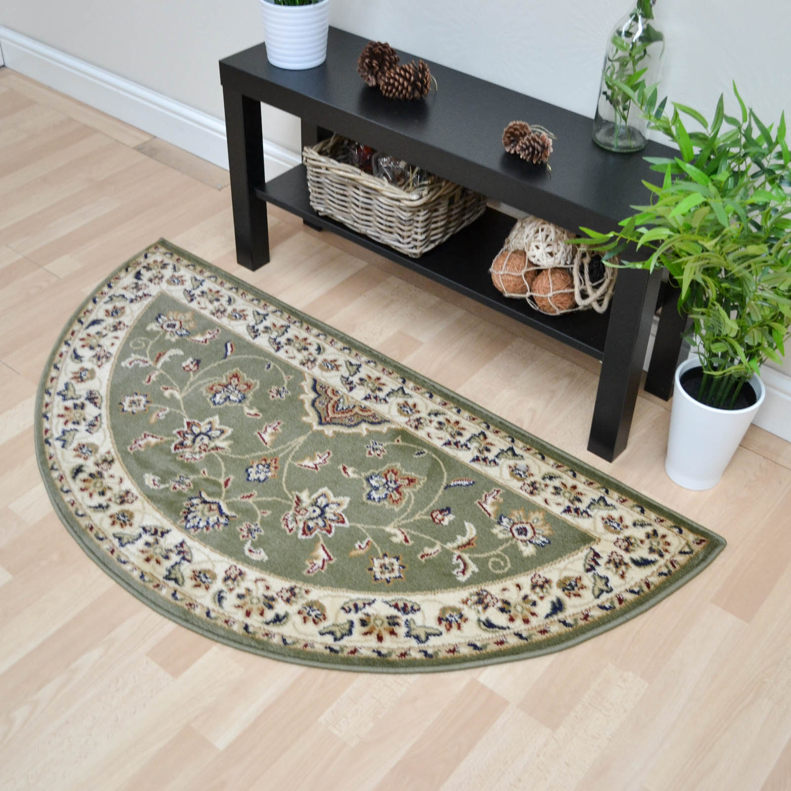 Sherborne Traditional Half Moon Rugs In Green