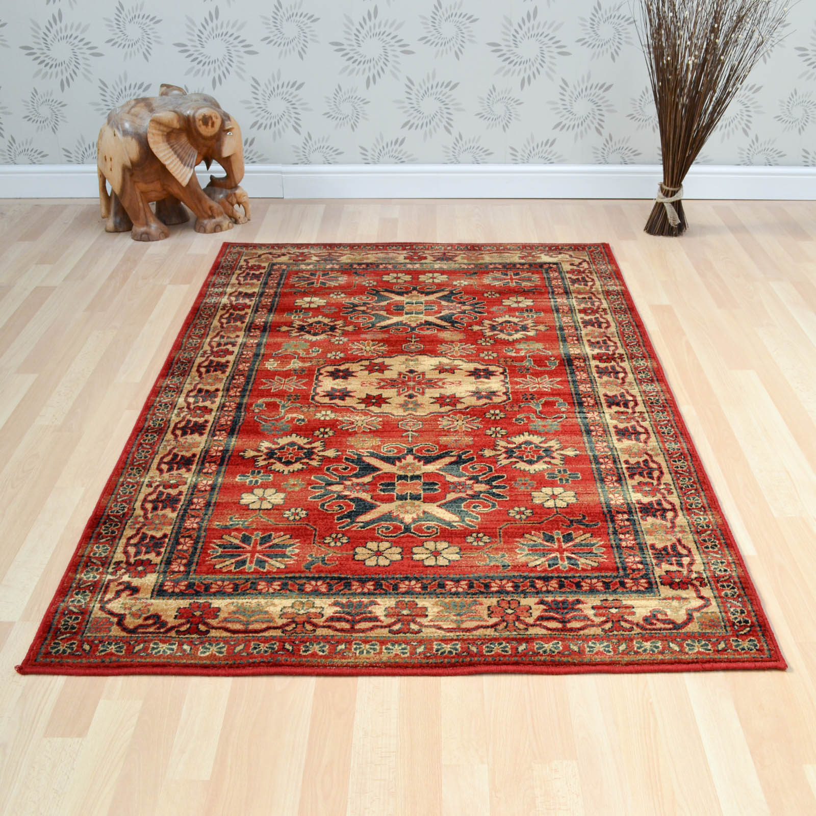 Woburn Shirvan Rugs in Terracotta