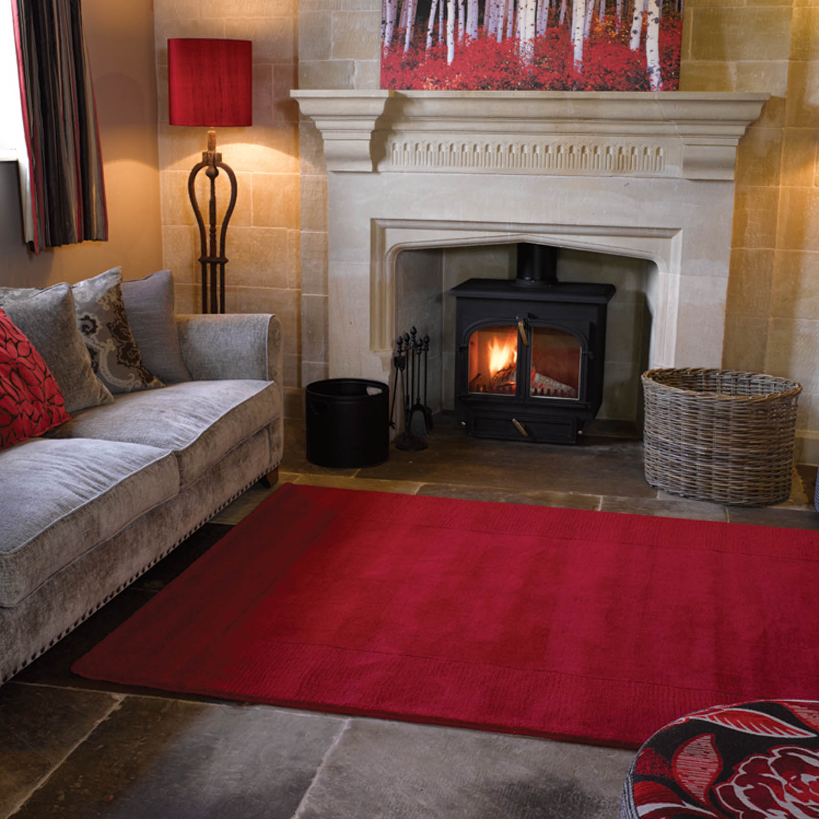 Tuscany Siena Rugs in Red