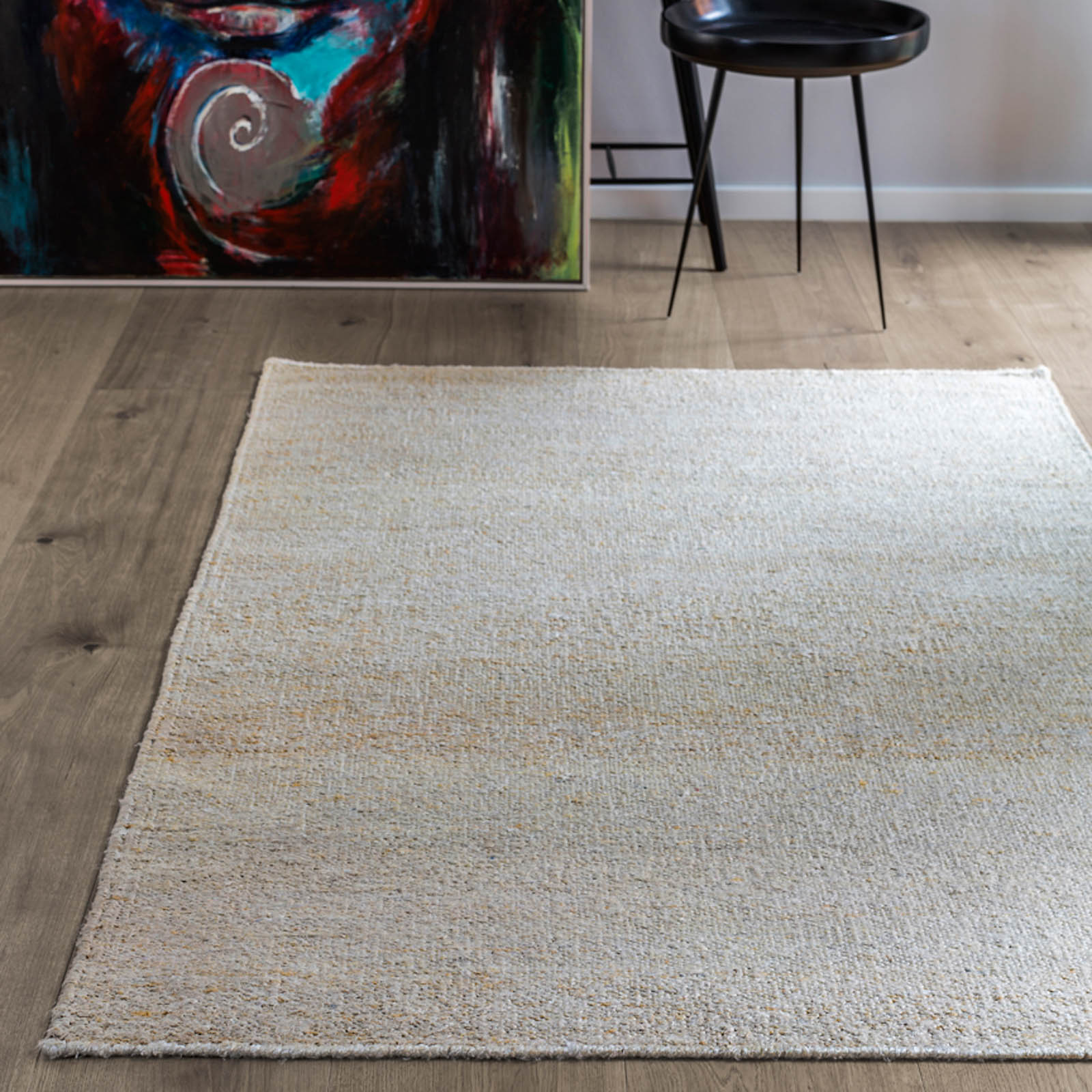 Silk Rugs in Cream by Massimo