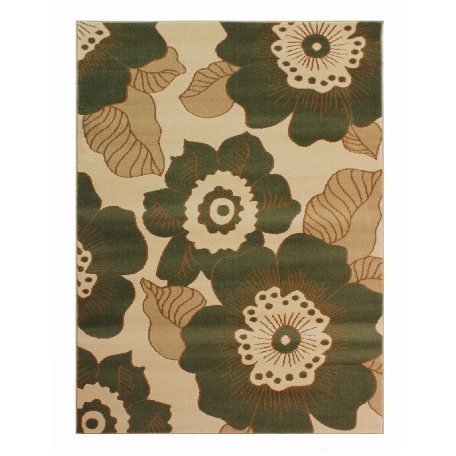 Sincerity Blossom Rugs in Green