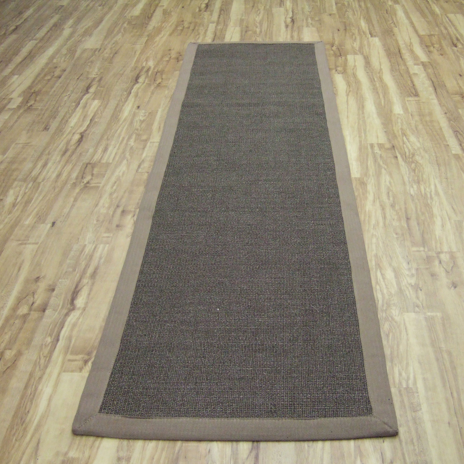Runner Rugs Uk: Sisal Hallway Runners In Mocha With A Taupe Border