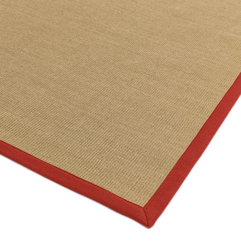 Sisal Rugs In Linen With Red Border Buy Online From The