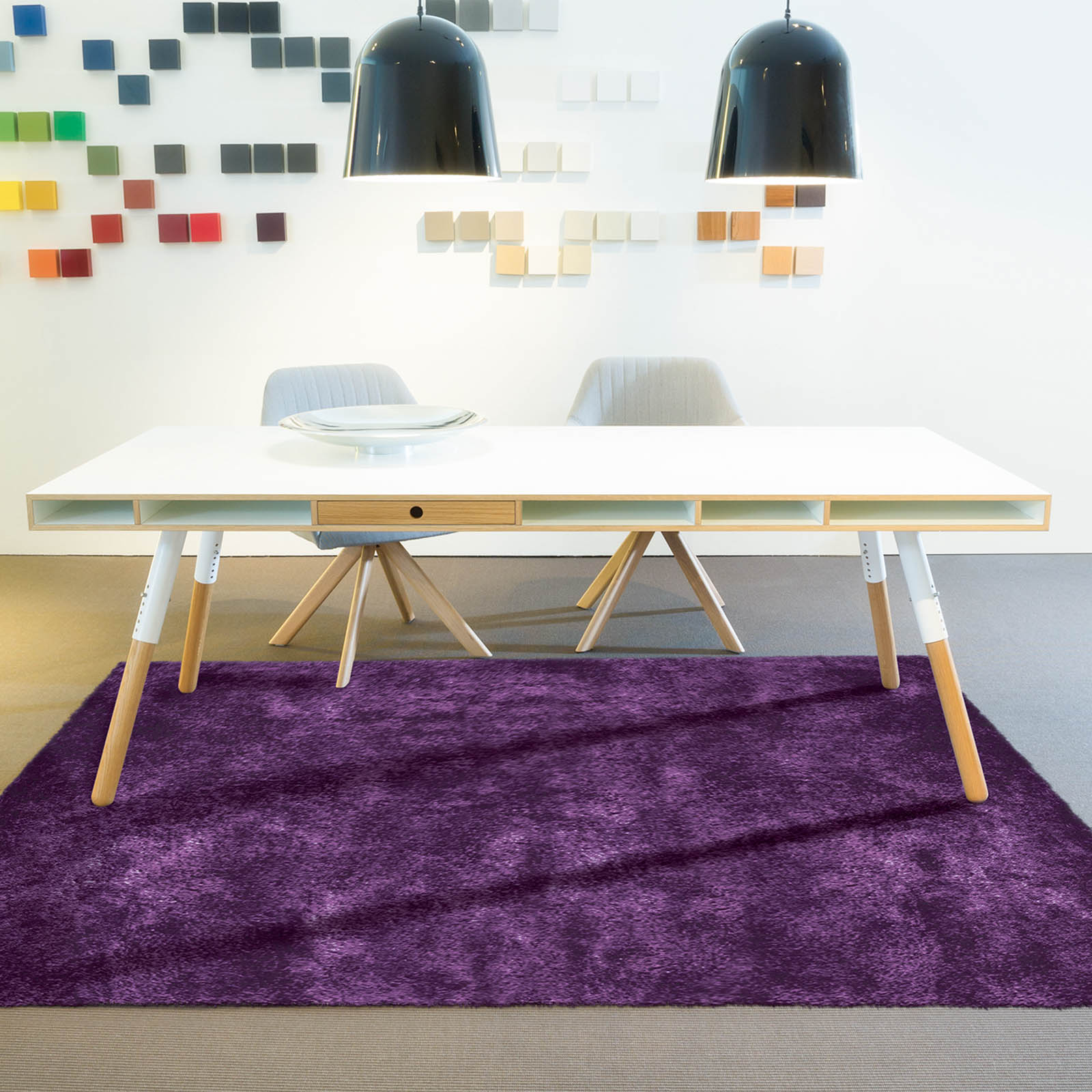 Soul Shaggy Rugs 50 in Purple