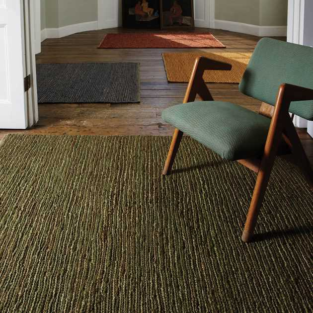 Jute Soumak Rugs in Green