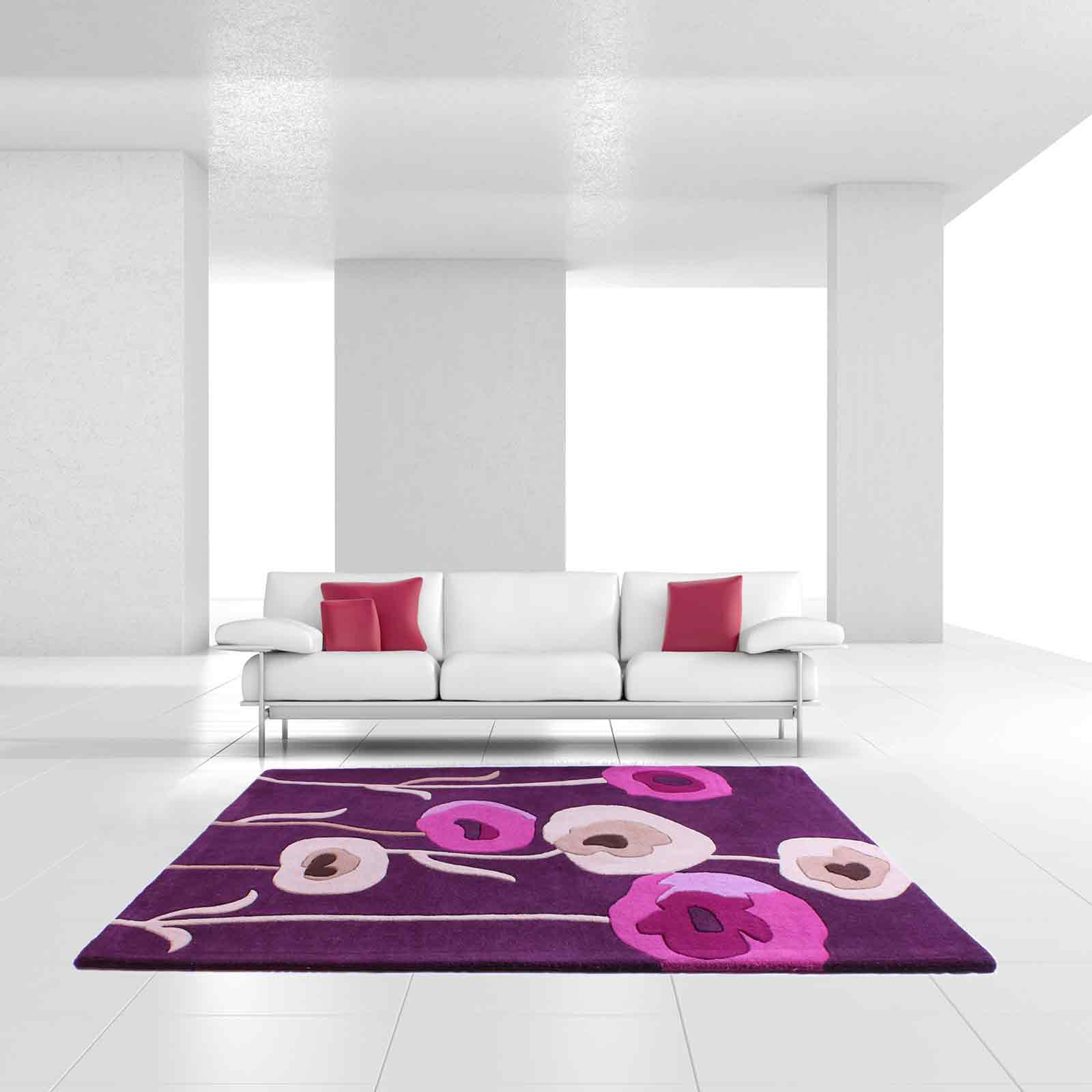 Sovereign rugs in plum free uk delivery the rug seller for Plum and cream rug