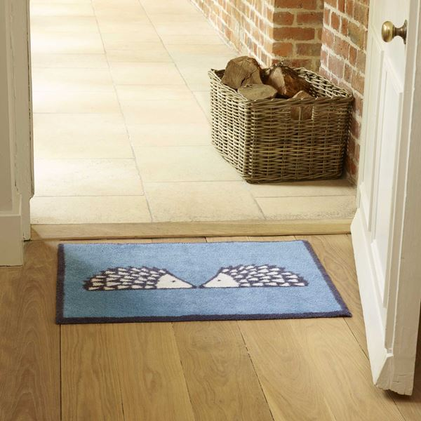 Spike Kissing Doormat - Turquoise
