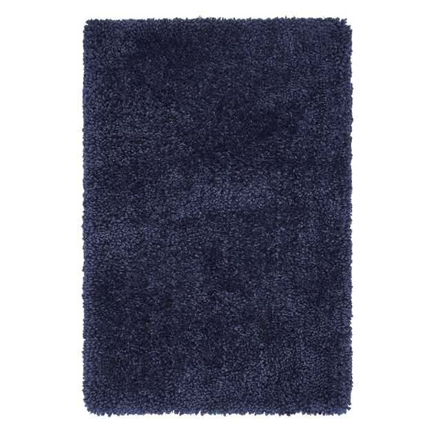 Spiral Shaggy Rugs in Navy