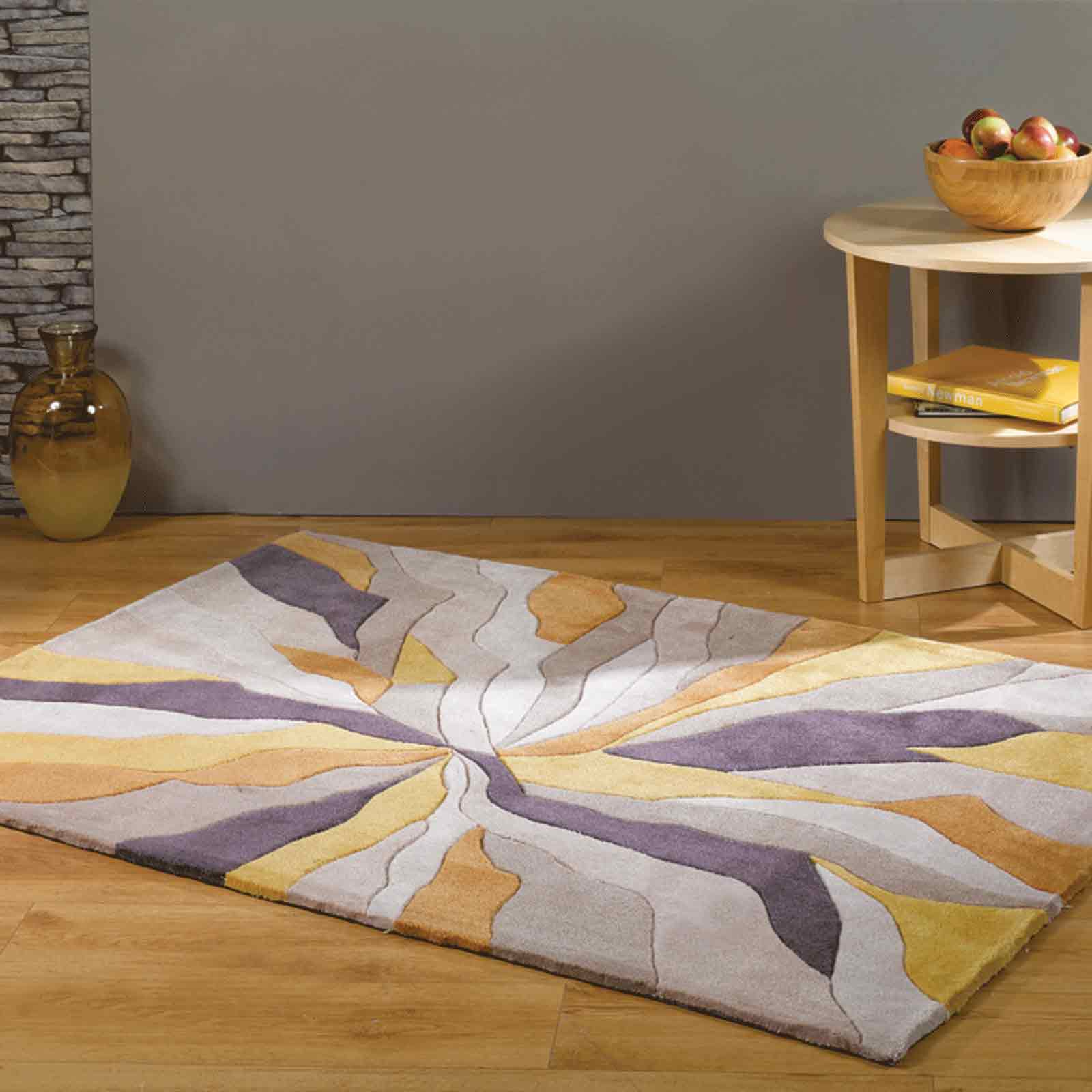 Infinite Splinter Rugs in Ochre