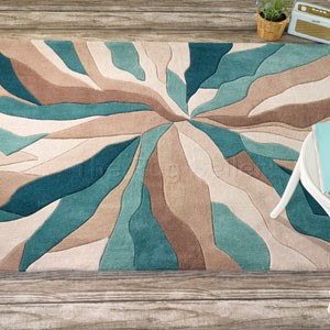 infinite splinter rugs in teal buy online from the rug. Black Bedroom Furniture Sets. Home Design Ideas