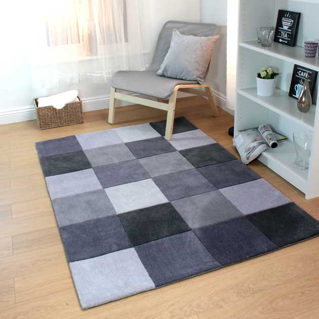 Inspire Squared rugs in Grey