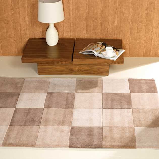 Inspire Squared rugs in Natural
