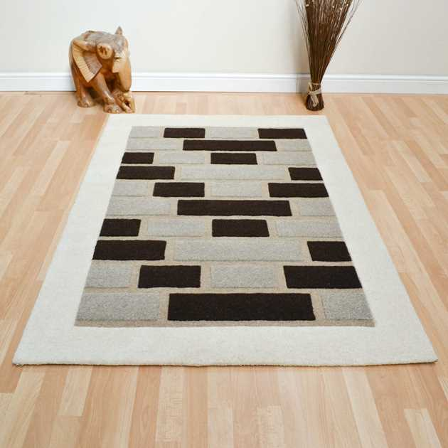 Step Rugs in Beige