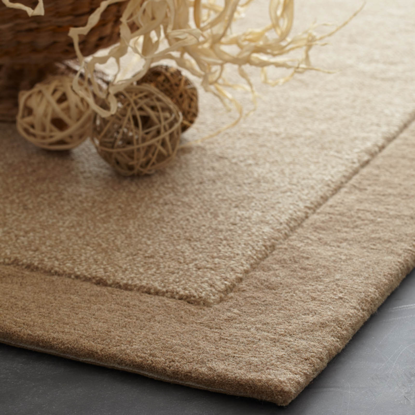 Steppes Border Rugs in Beige