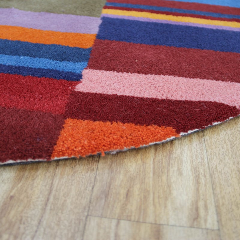 11a889ecc61 Stripes Multicoloured Circular Rugs buy online from the rug seller uk