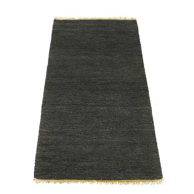 Sumace Hemp Hallway Runners in Black by Massimo