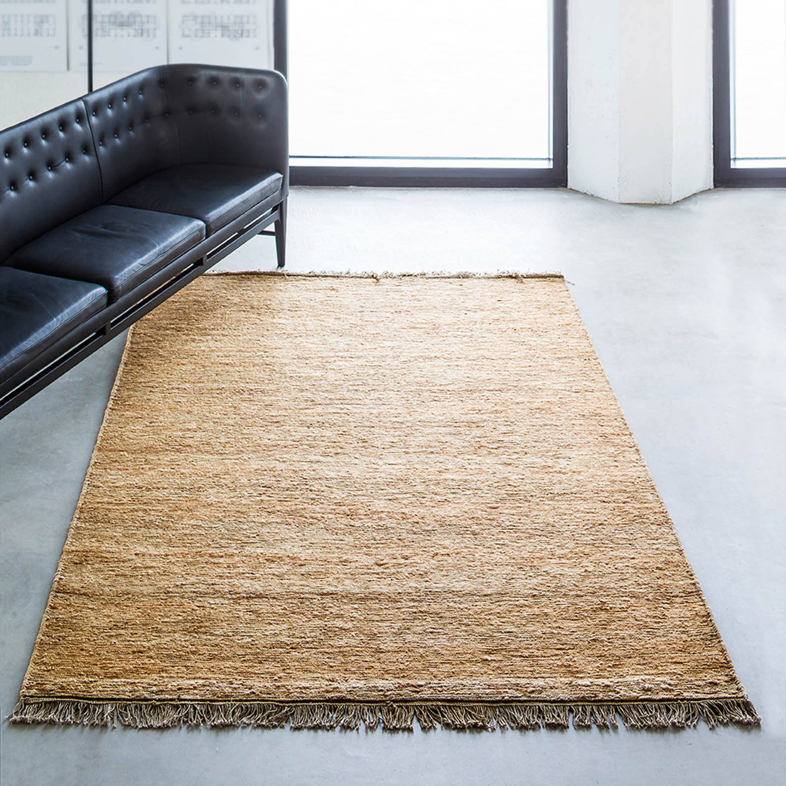 Sumace Hemp Rugs in Natural by Massimo