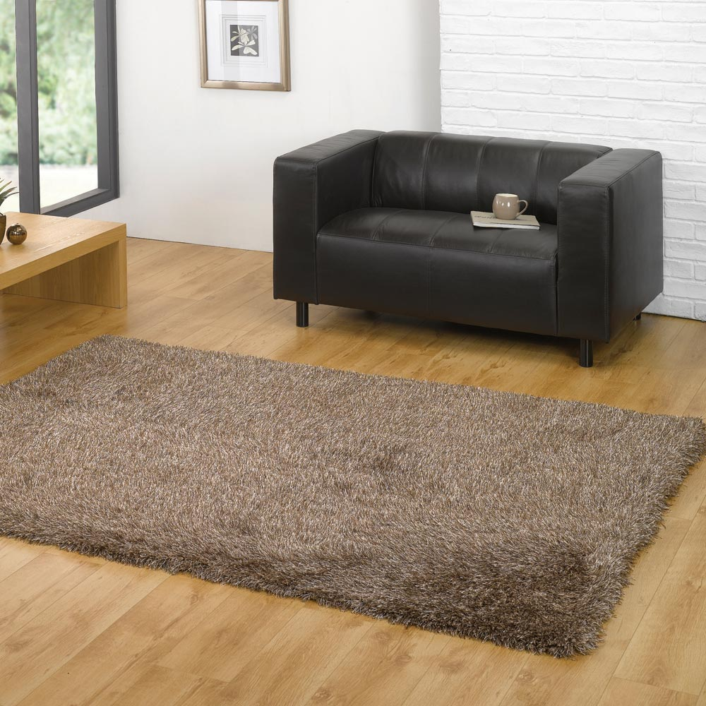 Santa Cruz Summertime Shaggy Rugs in Beige Mix