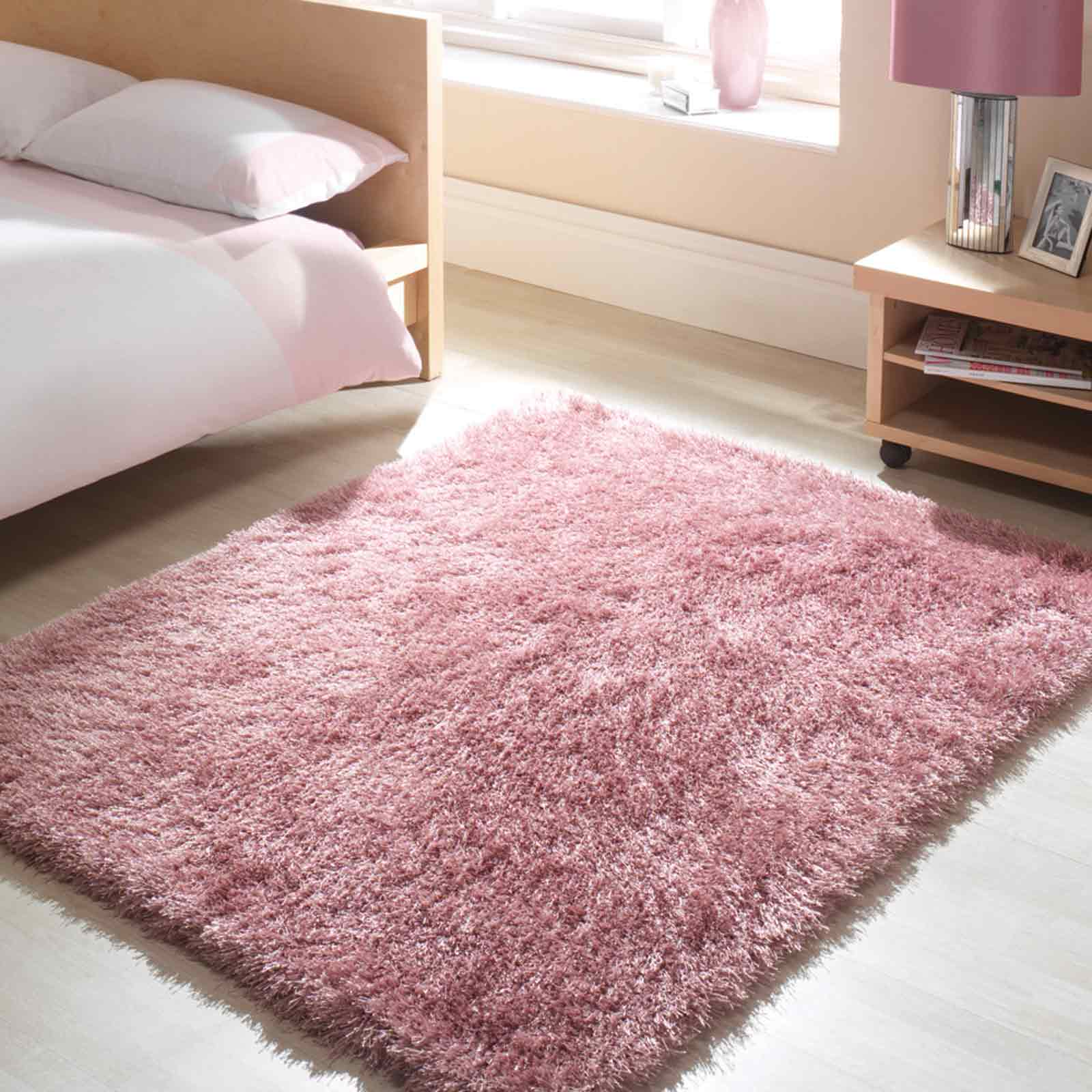 Santa Cruz Summertime Shaggy Rugs in Crushed Strawberry Pink