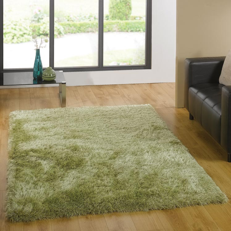 Santa Cruz Summertime Shaggy Rugs in Soft Green