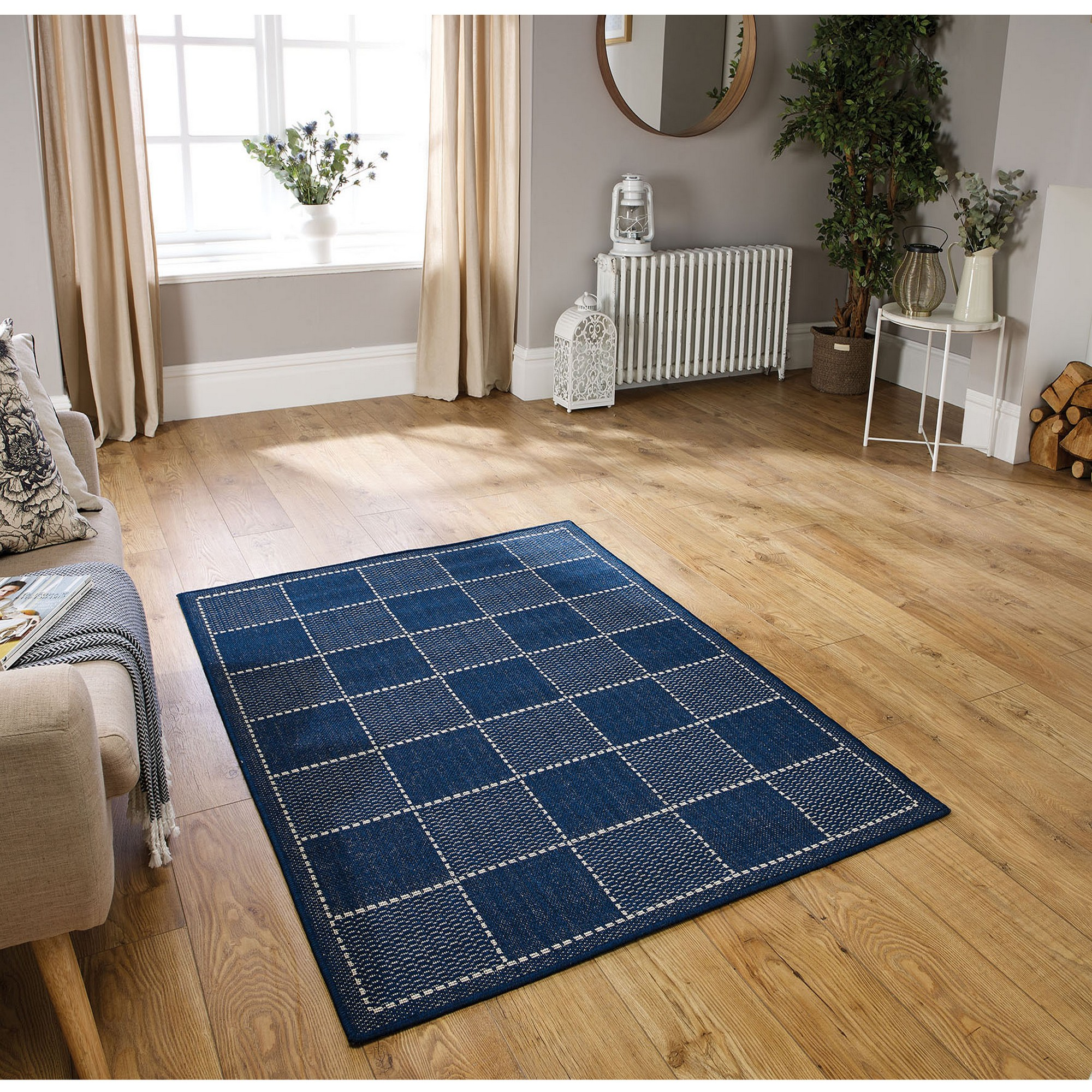 Blue Kitchen Rug: Super Sisalo Anti Slip Kitchen Rugs In Blue