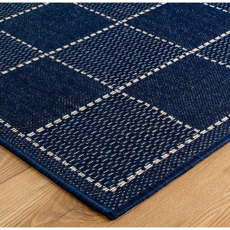 Super Sisalo Anti Slip Kitchen Rugs In Blue Buy Online From The Rug Seller Uk
