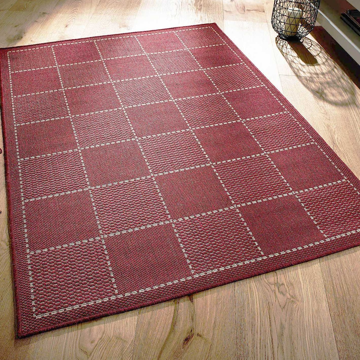Super Sisalo Anti Slip Kitchen Rugs In Red Free Uk
