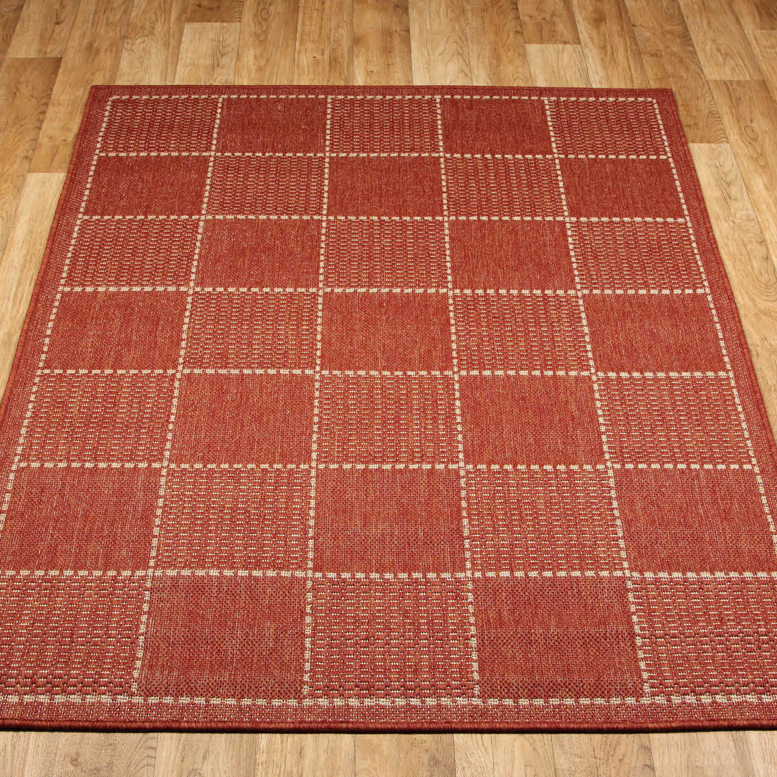 Super Sisalo Anti Slip Kitchen Rugs In Terracotta