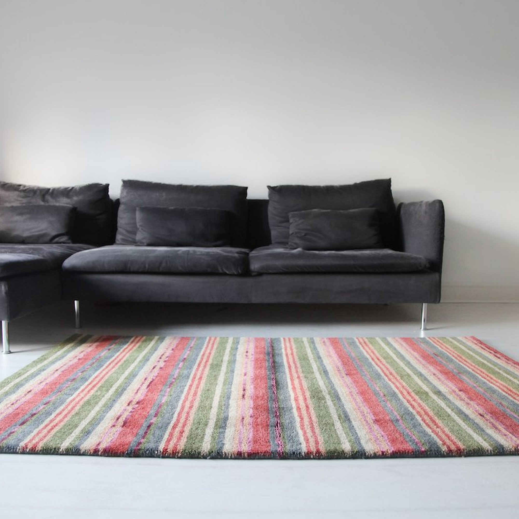 Supreme Handloom Multistripe Rugs in Spangle