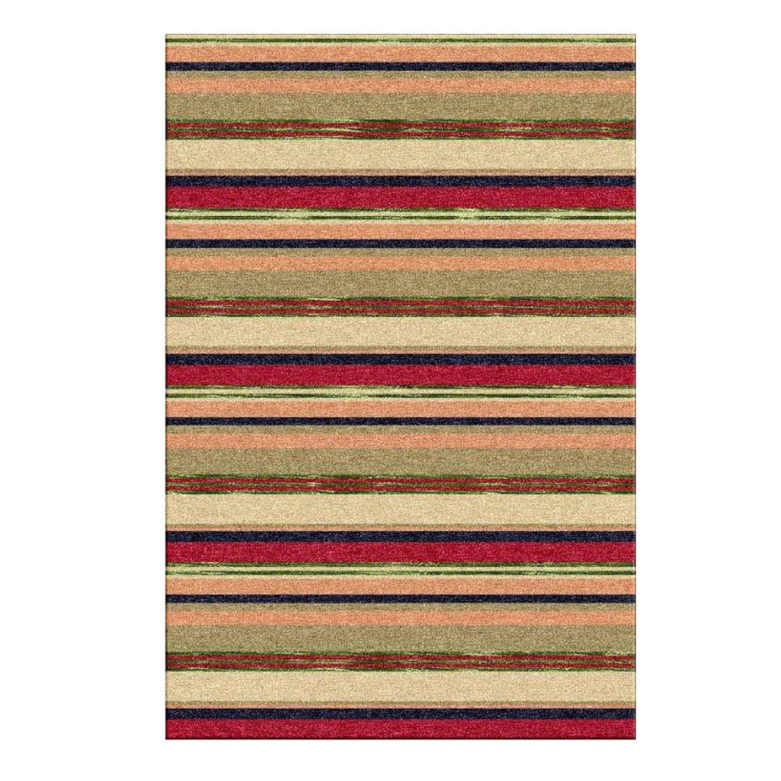 Supreme Handloom Multistripe Rugs In Tariquo Free Uk