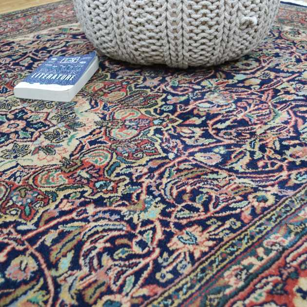 Sura Persian rugs in Navy and multi-colours