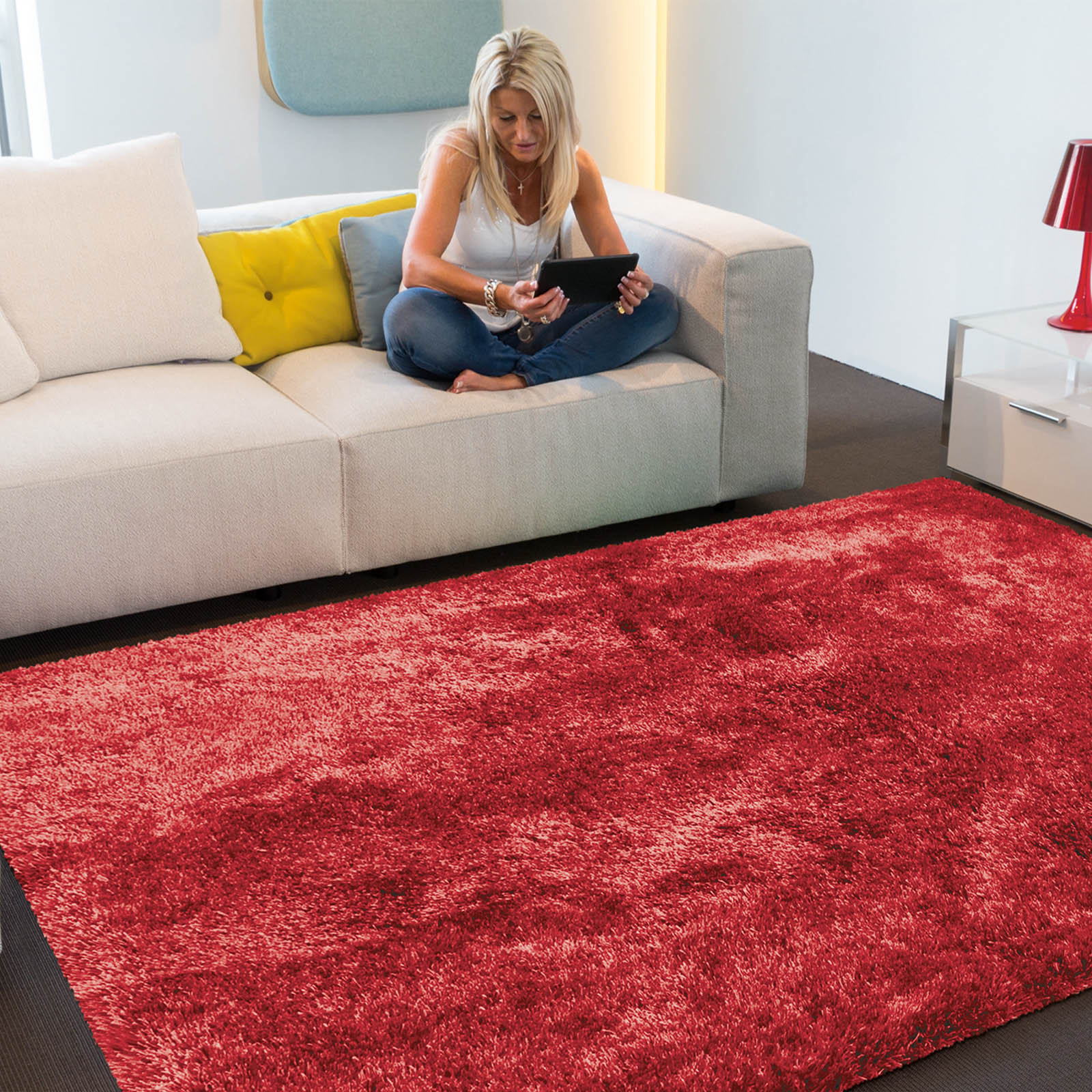 Swing Shaggy Rugs 41 in Red