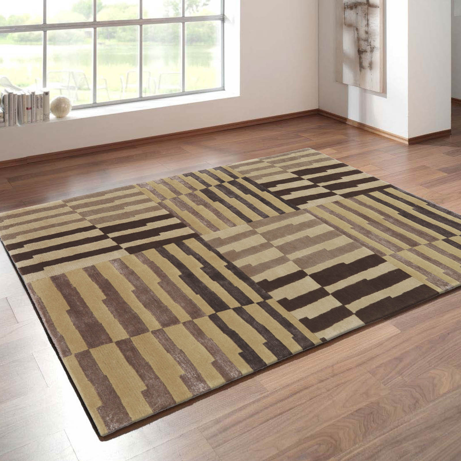 Symphony Rugs 16317 in Beige and Brown