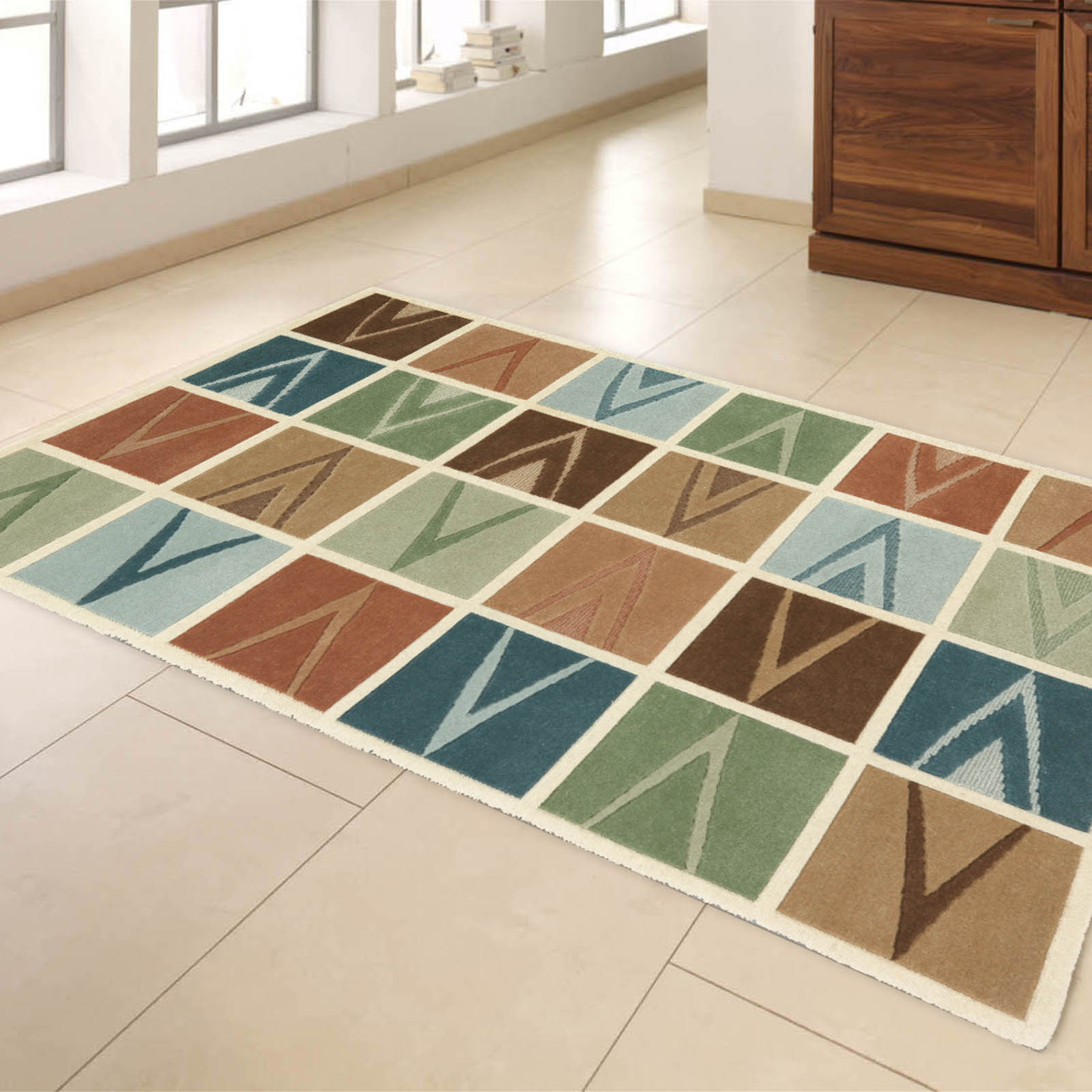 Symphony Rugs 17356 in Ivory and Multi-colours