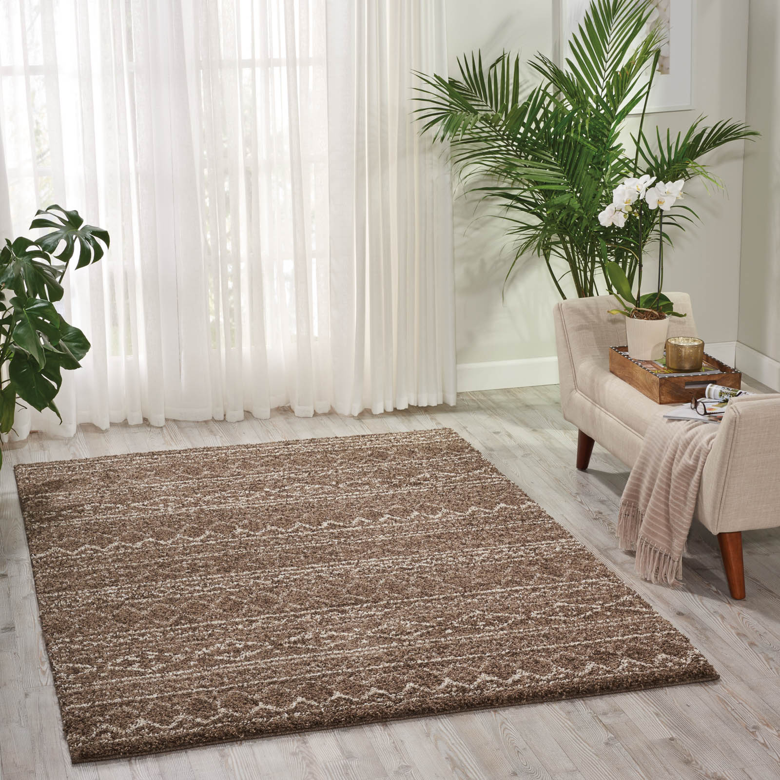 Tangier Rugs TAN03 in Latte