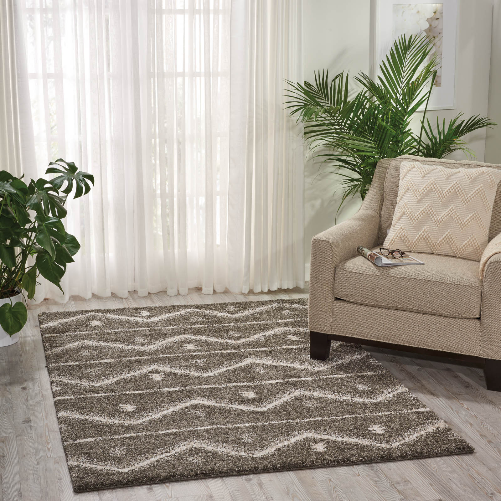 Tangier Rugs TAN04 in Grey