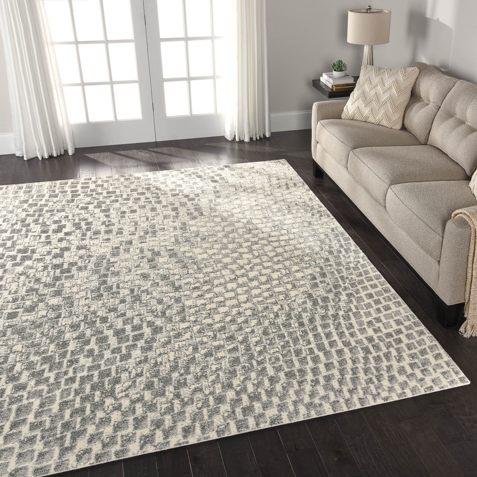 Nourison Twilight Rugs TWI08 in Cream