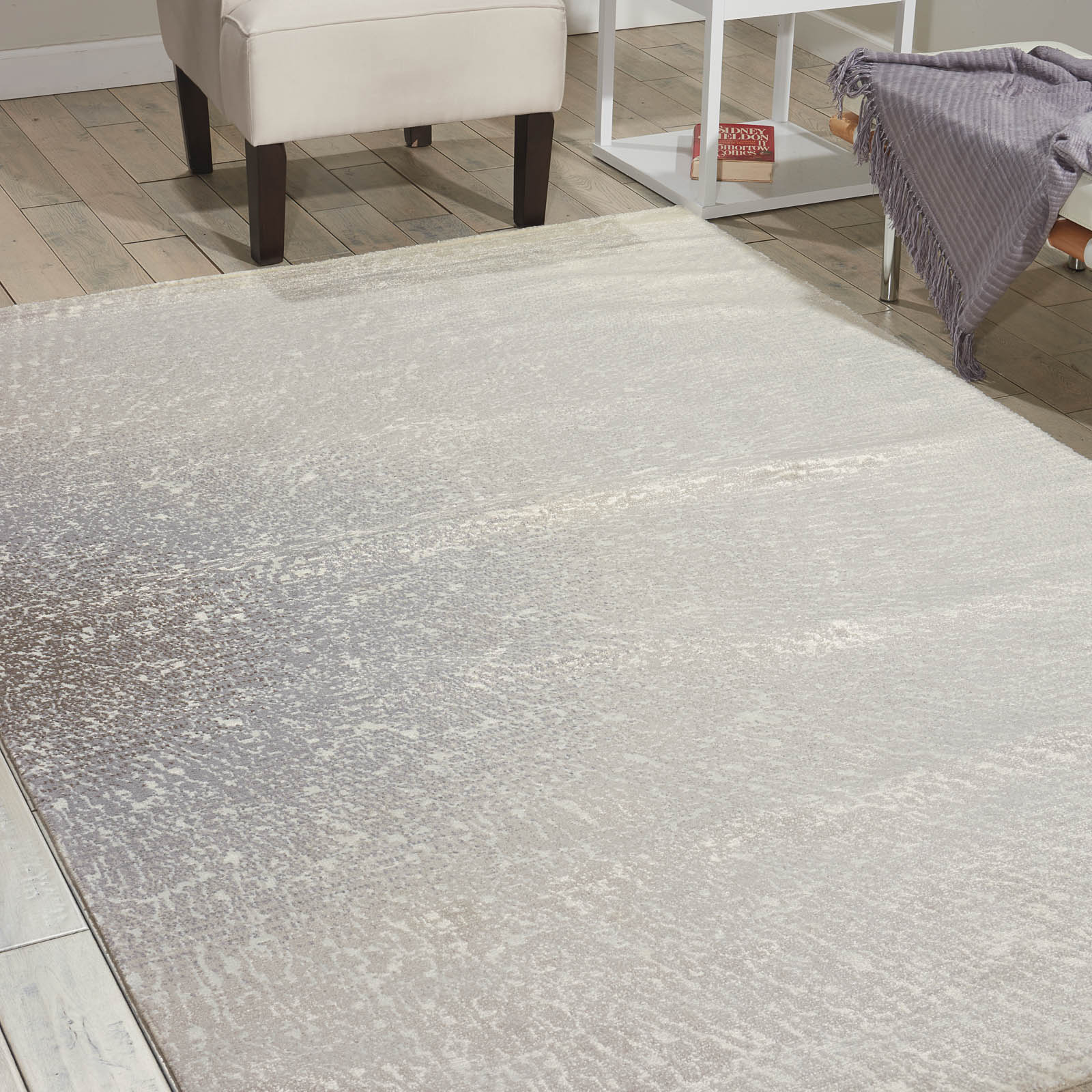 Nourison Twilight Rugs TWI12 in Ivory Grey