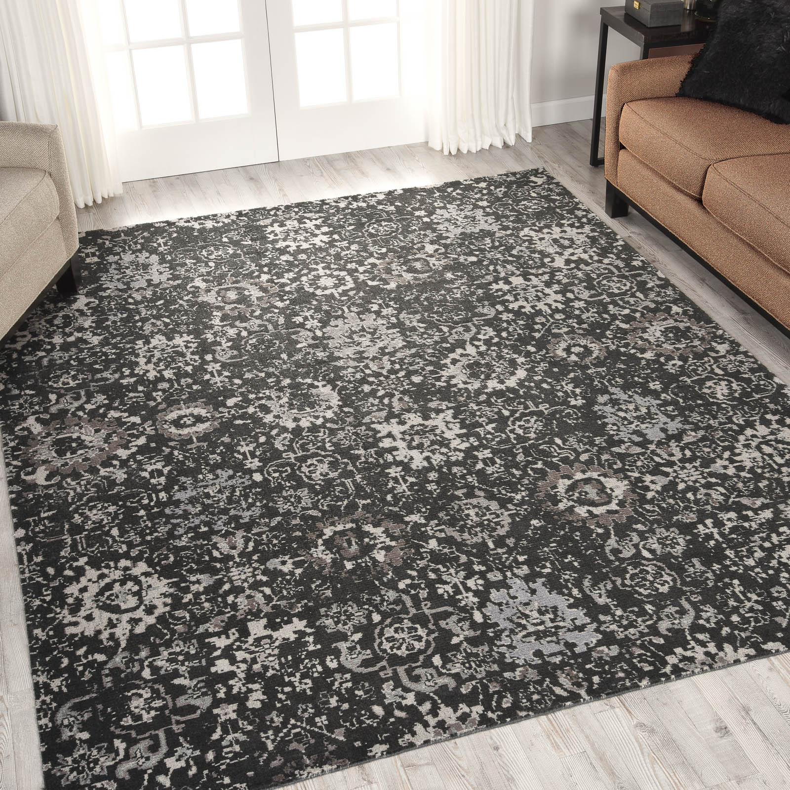 Nourison Twilight Rugs TWI13 in Onyx