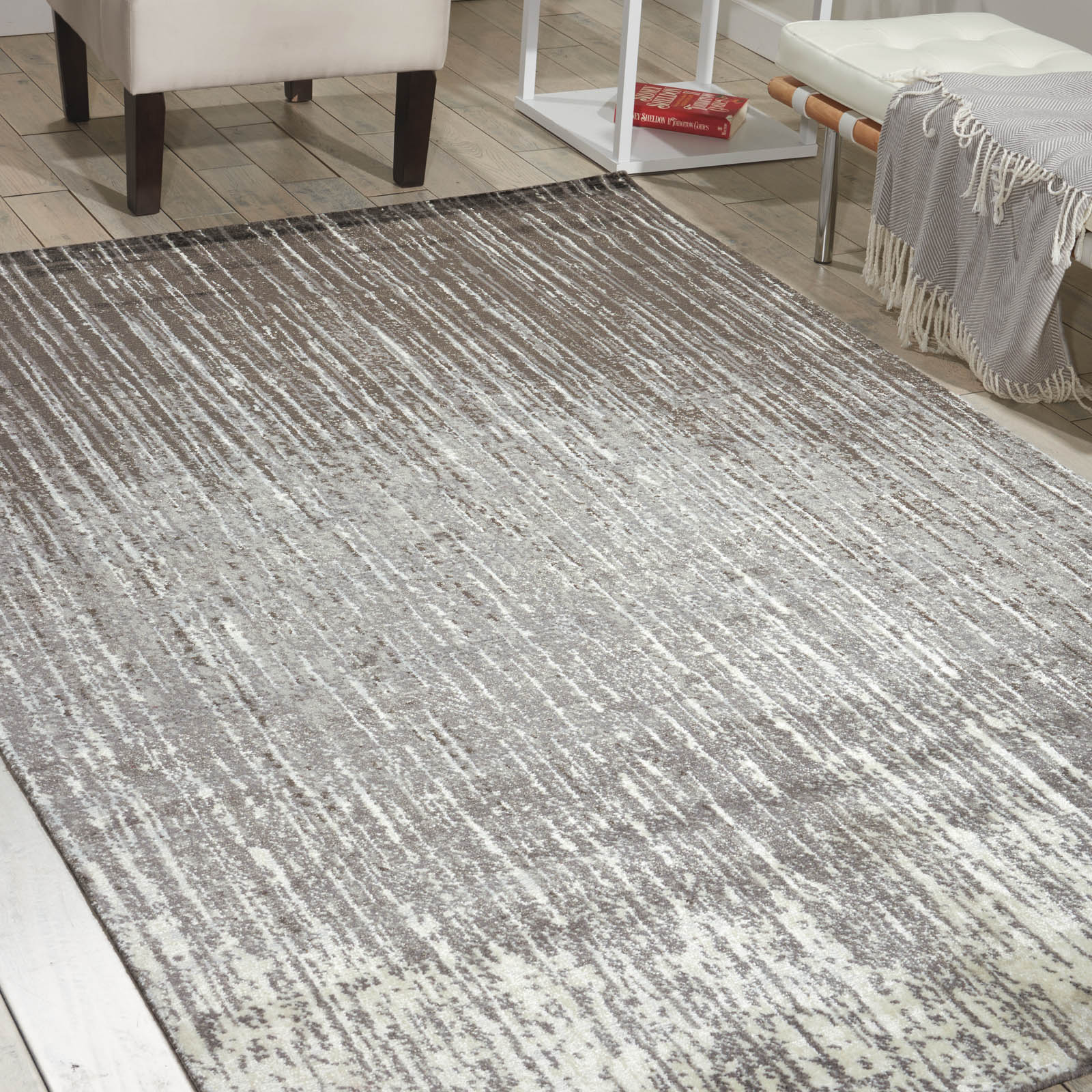 Nourison Twilight Rugs TWI14 in Smoke