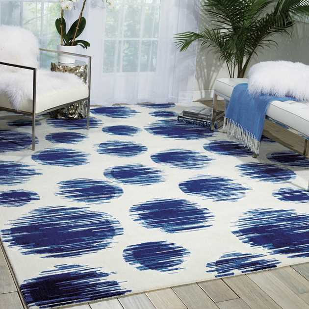 Nourison Twilight Rugs TWI23 by Nourison in Ivory and Blue
